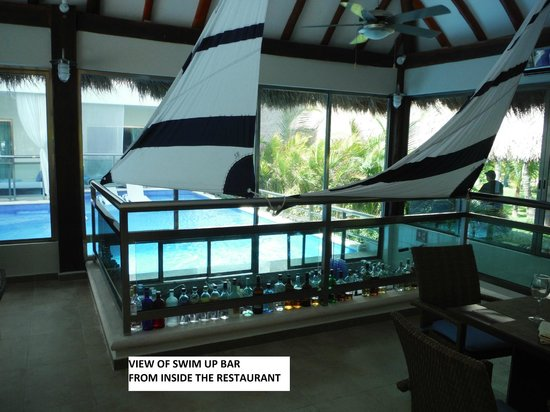 El Dorado Spa Resorts By Karisma: swim up bar (view from inside restaurant)
