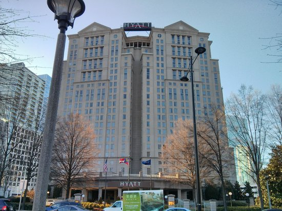 Grand Hyatt Atlanta in Buckhead: Picture taken across the street from the hotel.