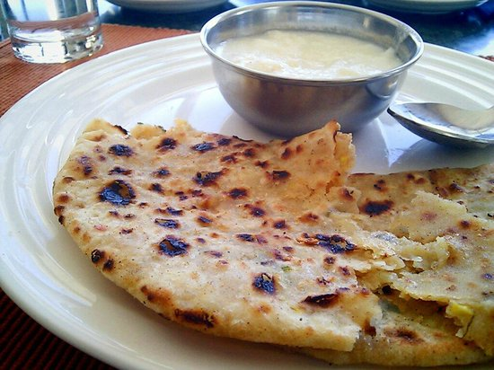 Mussoorie - Dancing Leaves, A Sterling Holidays Resort : Awesome Aloo Parathas At Woodstock Restaurant in Sterling Resorts, Mussoorie