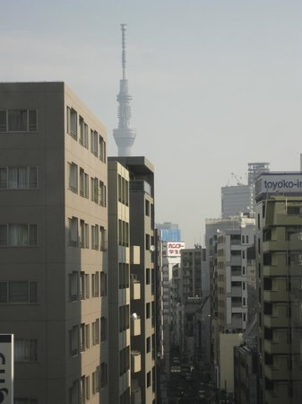 Tokyo Hotel Horidome Villa: Our view! SKY TREE!