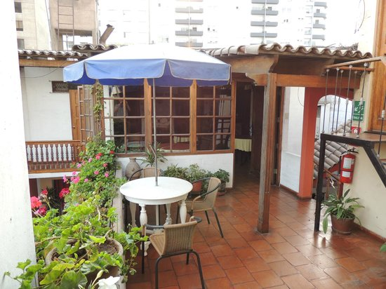 Hostal El Patio: one of several patio areas
