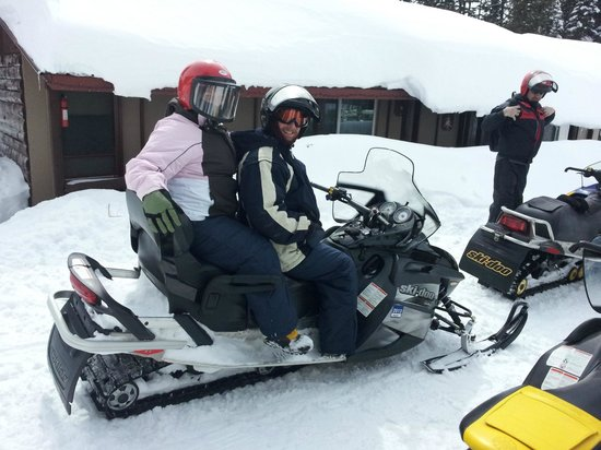 Grand Mesa Lodge: on the sled