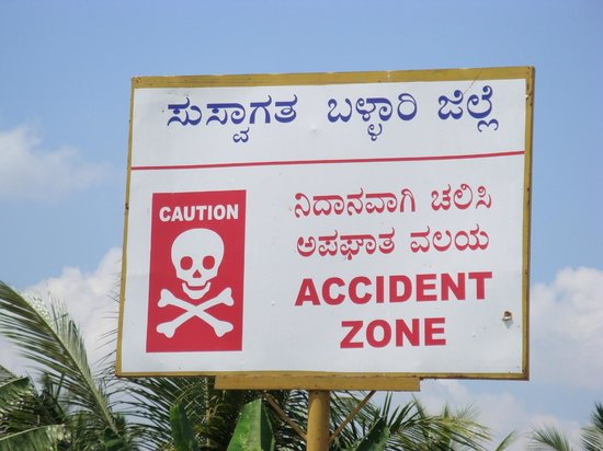 Virupaksha Temple: Another road sign