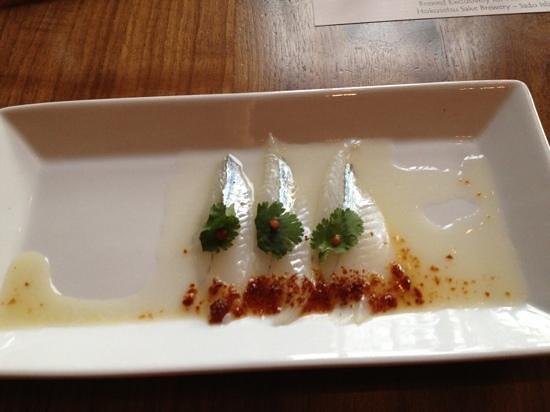 Matsuhisa Vail: perdito with yuzu sauce had a pungent but pleasing citrus flavor