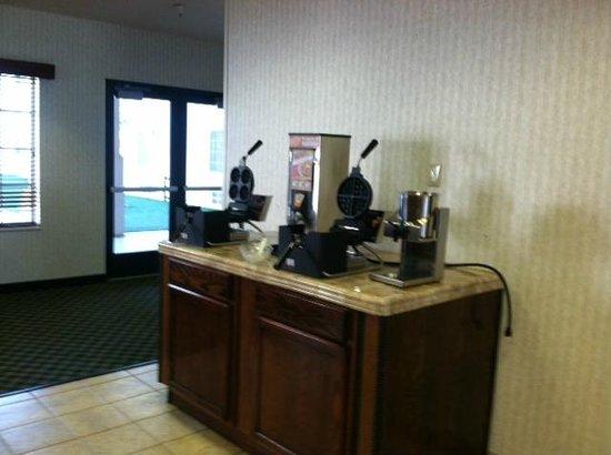 The Landmark Inn: waffle station