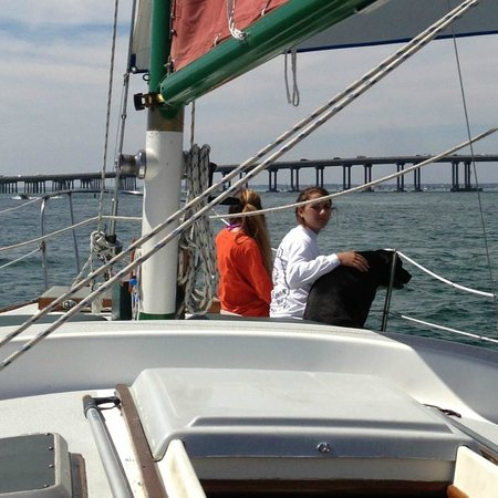 Emerald Coast Sailing: Kristin, Alexandria, & Dixie leading the way