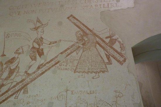 Palazzo Steri - Chiaramonte - Carcere dei penitenziati : disegno sul muro di una cella