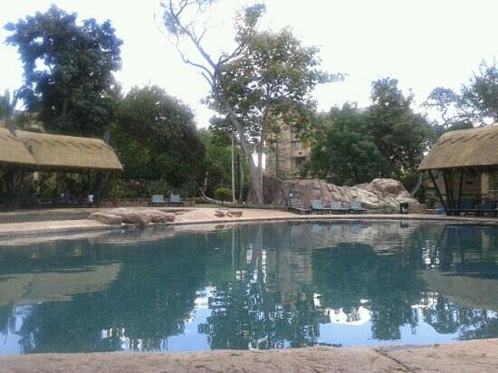 The Kingdom at Victoria Falls: View from my pool chair