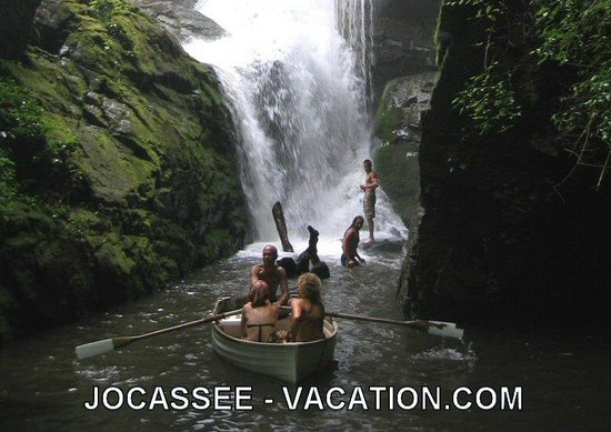 South Carolina: Magical Laurel Falls on Lake Jocassee, SC