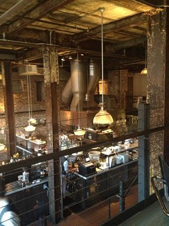 Boiler Room : looking down from our table to bar & kitchen