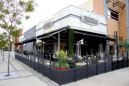 Restaurant Novello : Terrasse chauffée en saison !!