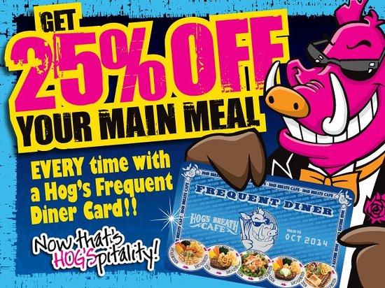 Hog's Breath Cafe: Frequent Diner Card