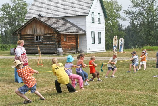 Huble Homestead Historic Site: An old-fashioned tug of war at one of the numerous special events.