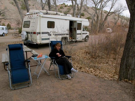 Ojo Caliente Mineral Springs Spa: At our campsite - finally!