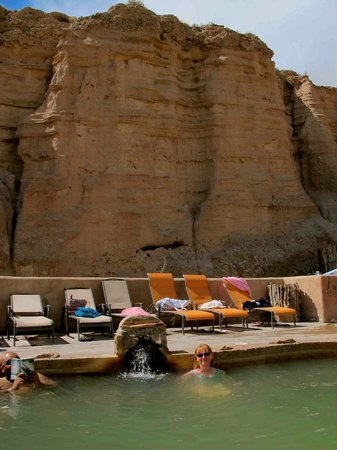 Ojo Caliente Mineral Springs Spa : Soaking in one of the 'whisper' mineral pools