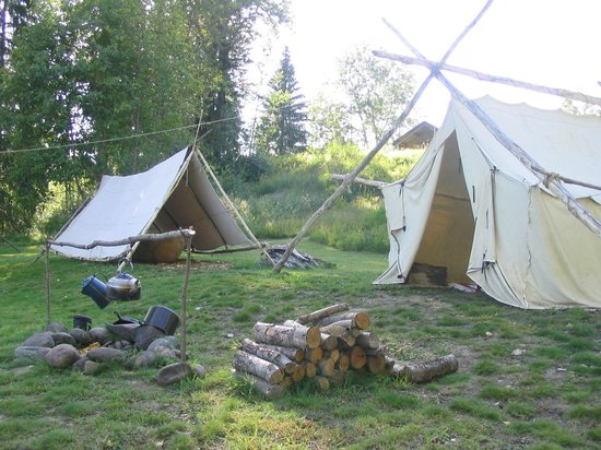 Huble Homestead Historic Site: The First Nations fish camp located beside the Fraser River.