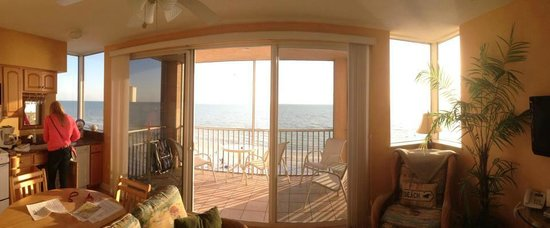 Cornerstone Beach Resort: View from living room