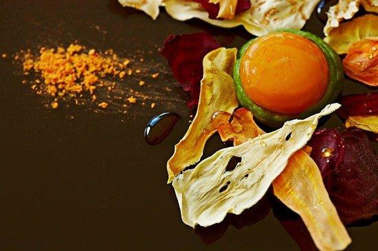 Le Quartier Francais : Pasture Fed Yolk ,Lovage ,Vegetable Cornflakes Sma
