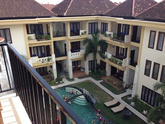 Kuta Town House Apartments: view from studio apartment