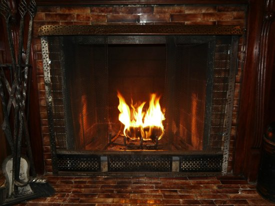 Inn New York City: Library Suite Fireplace