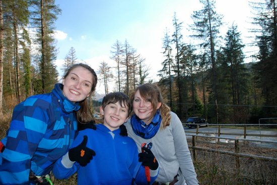 Go Ape at Coed y Brenin : end of the course!