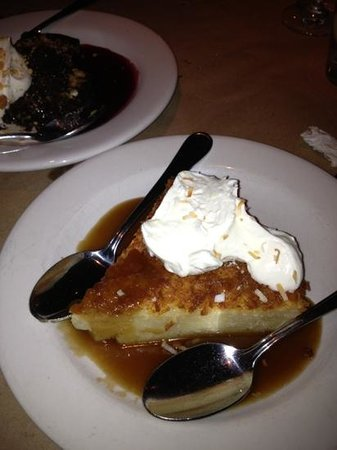 Bonefish Grill: Coconut pie with brandy sauce