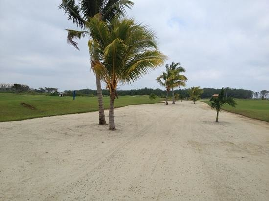 The Black Pearl Golf Course: this actually a cart path