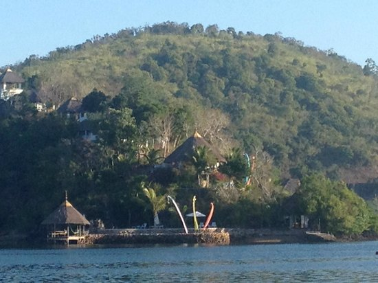 Puerto Del Sol Resort Hotel and Dive Center Coron : View from  the deck of a sail boat