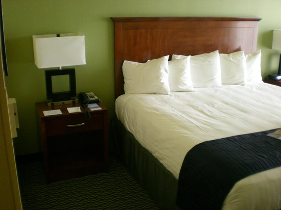 Aquarius Casino Resort, BW Premier Collection: Beautifully appointed, comfortable bed.