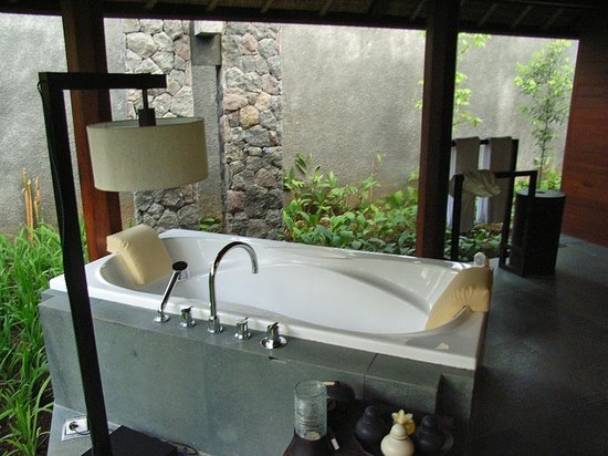 カユマニス ウブド プライベート ヴィラ, 風呂はオープンエアーでしたが蚊は来ませんでした。