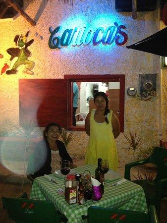 Cariocas Pizzas Holbox: fachada del restaurante