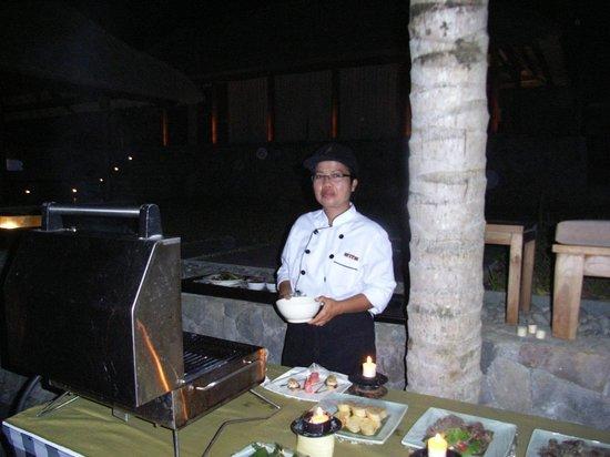 Kayumanis Ubud Private Villa & Spa: プライベートバーベキューディナー
