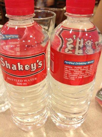 Shakey's water