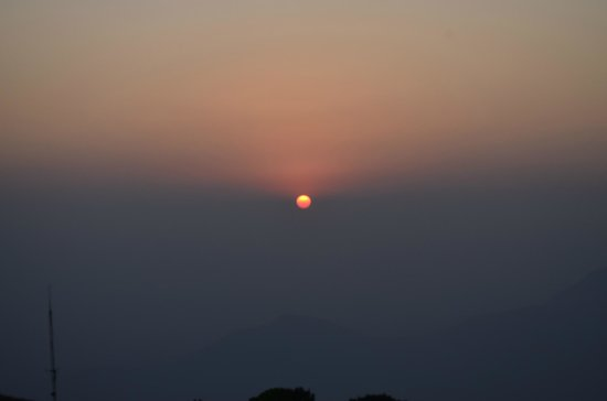 Shimoga, India: sunset from top of hill