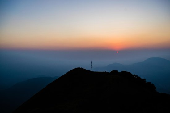 Shimoga, อินเดีย: sunset from top of hill