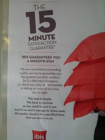 Ibis Singapore on Bencoolen: IBIS Guarantee