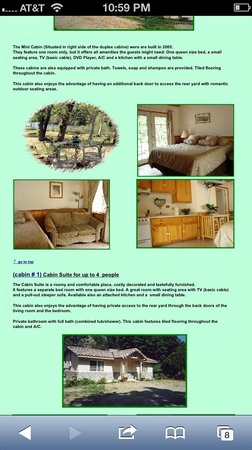 Sequoia Riverfront Cabins: (cabin # 1) Cabin Suite for up to 4  people