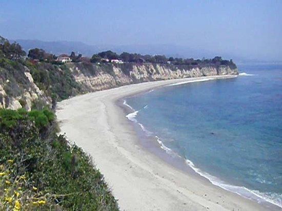 Point Dume State Beach And Preserve Cliff Side Pacific Ocean
