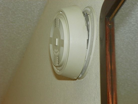 Quality Inn Fort Jackson: Smoke detector...who knows if it works