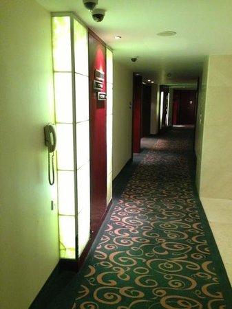 Pullman Shanghai Skyway Hotel: corridor of one floor