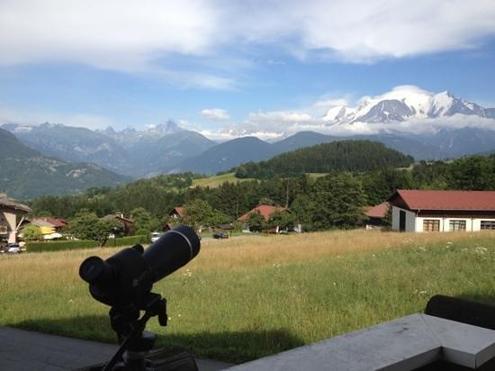 Hôtel Les Roches & Spa: vue Mt Blanc exceptionnel