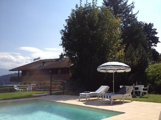 Hôtel Les Roches & Spa: solarium et piscine