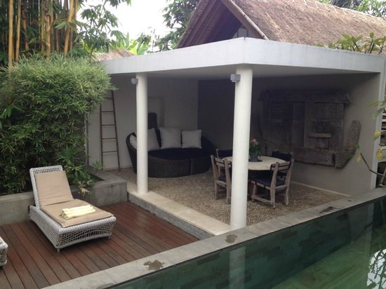 The Purist Villas and Spa: Bamboo Villa - Outdoor Dining Area