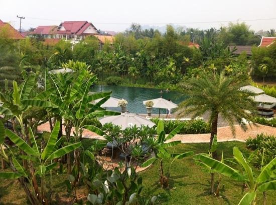 The Luang Say Residence: view from our room