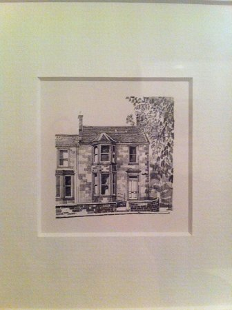 12, Belford Terrace: Sketch drawn by Carolyn's son of the house