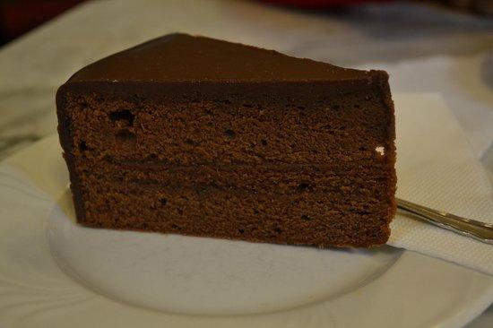 Cafe Griensteidl: Deliciosa tarta Sacher.