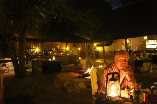 Motswari Private Game Reserve: Dining in the Boma under the stars