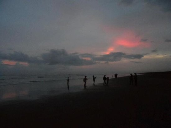 Parangtritis Beach: Glad that we managed to get bits of the sunset..