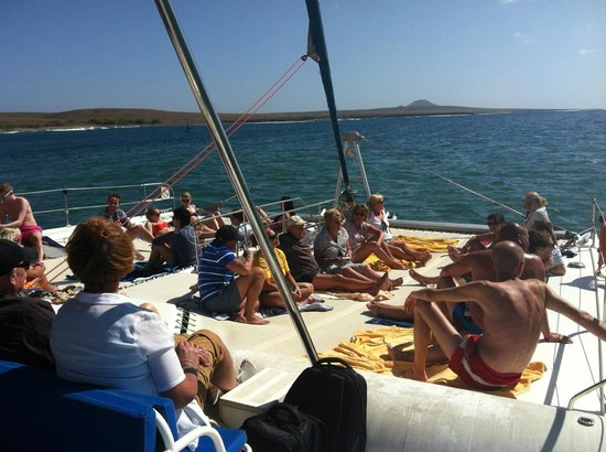 Santa Maria, Cabo Verde: Heading out to sea.