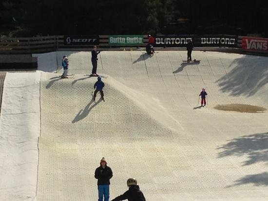 Snowtrax: The bottom of the main slope